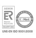 Certificado AENOR UNE-EN ISO 9001:2008